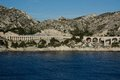 Railway viaduct france in calanques Royalty Free Stock Photography