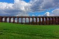 Railway viaduct the ouse valley also called balcombe built in is on the london to brighton line in england and is feet m Royalty Free Stock Photos