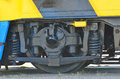 Railway wheels wagon recondition details of Stock Image
