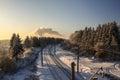Railway Winter Day