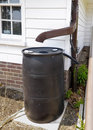 Rain Barrel Royalty Free Stock Photography