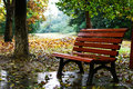 Rain bench Royalty Free Stock Photo