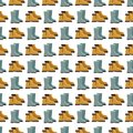 Rain boots seamless pattern design