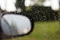 Rain on a car Royalty Free Stock Photo