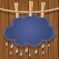 Rain cloud on a clothesline Stock Photo