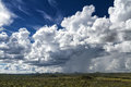 Rain clouds over the namibian savanna near windhoek namibia Royalty Free Stock Photo