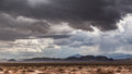 Rain clouds over prairie impressive dry Royalty Free Stock Photos