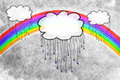 Rain clouds and rainbow Royalty Free Stock Photo