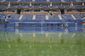 Rain delay during US Open 2014 at Arthur Ashe Stadium at Billie Jean King National Tennis Center Royalty Free Stock Photo