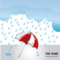 Rain design over sky background vector illustration Stock Photos