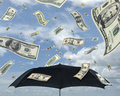 Rain of dollars Royalty Free Stock Image