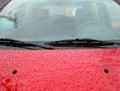 Rain drops on a car windshield Royalty Free Stock Photo