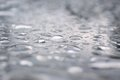 Rain drops on glass table Stock Photos