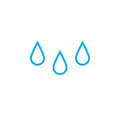 Rain drops icon isolated on white background. Vector illustration.