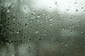 Rain drops on window Royalty Free Stock Photo