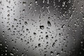 Rain drops on window outside Royalty Free Stock Photo