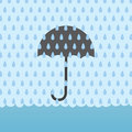 Rain flood umbrellav umbrella behind storm and above Royalty Free Stock Photography