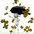 Rain with gold discount Royalty Free Stock Image