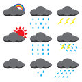 Rain illustration vector of and sun Stock Photo