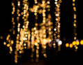 Rain of Lights Christmas. Royalty Free Stock Photo
