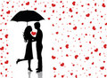 Rain of love2. Royalty Free Stock Photography
