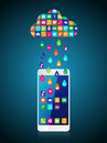 Rain from mobile apps: the application downloaded and installed