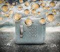 Rain of money Stock Photography