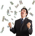 Rain of money Stock Images