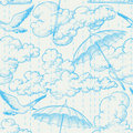 Rain seamless pattern Royalty Free Stock Images