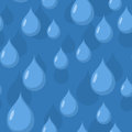 Rain seamless pattern. Vector background of Blue water drops. Royalty Free Stock Photo