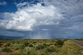 Rain shaft beautiful image of a descending from a storm cloud in the big bend national park and the chihuahuan desert Royalty Free Stock Photography