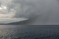 Rain Squall Over Volcano Royalty Free Stock Photo