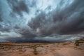 Rain storm over the desert utah landscape clouds building up Stock Image