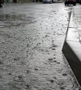 Rain on the street Royalty Free Stock Photos