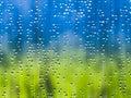 Rain during sunshine Stock Images