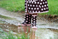 Rainboots and Mud Puddles Royalty Free Stock Image