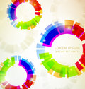 Rainbow Abstract Colorful circles Royalty Free Stock Photography