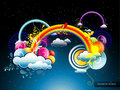 Rainbow abstract illustration Stock Photography