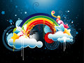 Rainbow abstract illustration Stock Photos