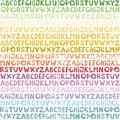 Rainbow alphabet seamless pattern colorful in colors preschool school education horizontal on white background Royalty Free Stock Photos
