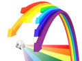 Rainbow arrows Stock Photography