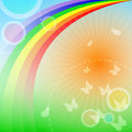 Rainbow background Stock Images