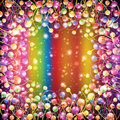 Rainbow background color ball balloon Royalty Free Stock Photo
