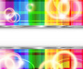 Rainbow background with flares Stock Photography