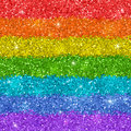 Rainbow background with shiny glitter texture. Vector