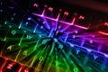 Rainbow Backlit Keyboard Royalty Free Stock Photo