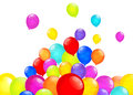 Rainbow balloons isolated on white background. Vector EPS10. Royalty Free Stock Photo