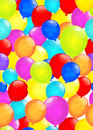 Rainbow balloons  on white background. Vector EPS10. Royalty Free Stock Photo