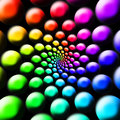 Rainbow Balls Royalty Free Stock Images