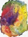 Rainbow beautiful bright watercolor stains, abstract watercolor texture Royalty Free Stock Photo